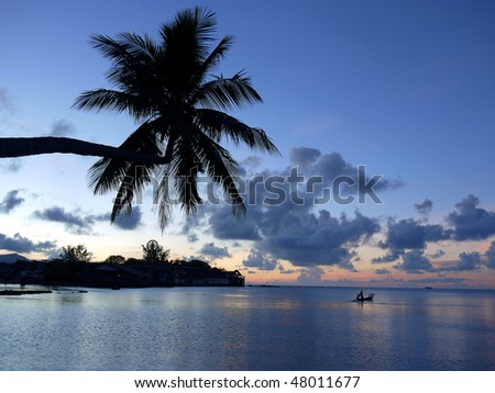 sunset at Koh Samui Island, Thailand - stock photo