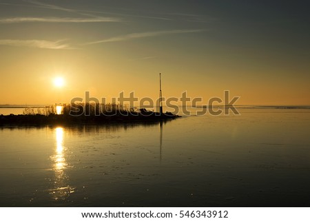 Sunset at Lake Balaton, ( Fonyod ) Hungary