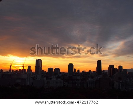 Sunset at osaka
