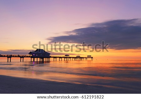 Sunset at Pier 60, Clearwater beach