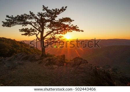 Sunset at Raven's Roost Overlook, Blue Ridge Parkway