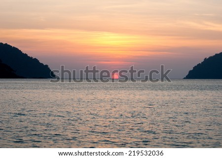 Sunset at Surin Island, Phangnga, Thailand