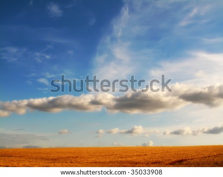 Sunset at the countryside - stock photo