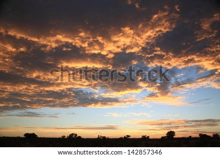 Sunset at the national park head hopefully cape town south africa multiethnic setting sun fantastic landscape - stock photo