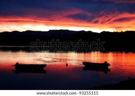 Sunset at Tuross Heads, NSW Australia - stock photo