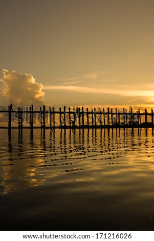 Sunset at U Bein Bridge, Myanmar