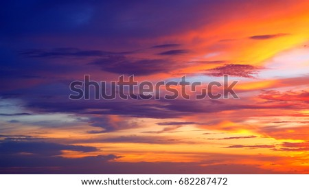 Sunset Background / a cloud is an aerosol comprising a visible mass of minute liquid droplets, frozen crystals, or particles suspended in the atmosphere