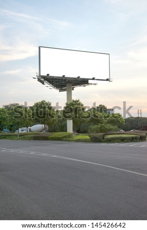 Sunset billboards - stock photo