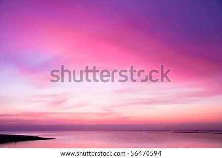 Sunset Burning Down - stock photo