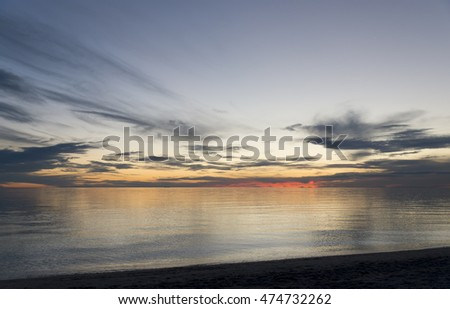 Sunset by the beach
