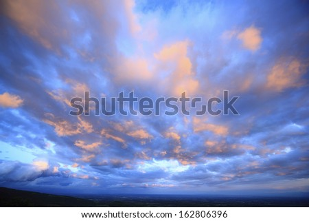 Sunset clouds