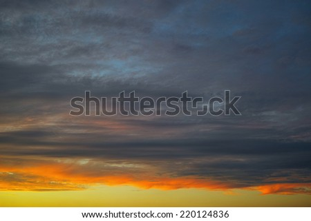 Sunset clouds and remaining blue sky, background for little hope, remainder and rest.