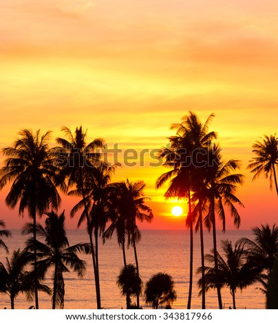 Sunset Divine Bay View  - stock photo