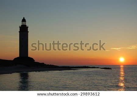 Sunset from naturalistic park of Anholt - stock photo