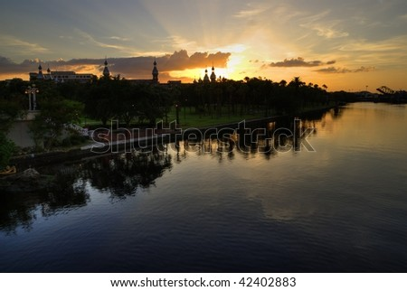 Sunset Hillsborough River, Tampa Florida, sunrise