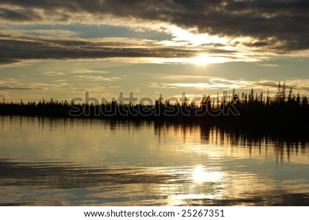 Sunset in august - stock photo
