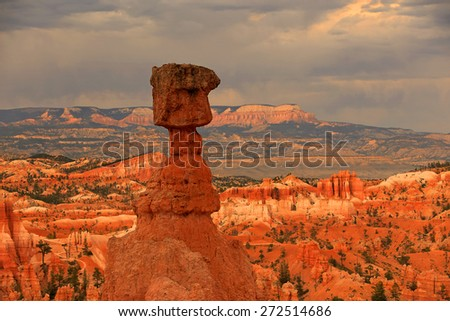 Sunset in Bryce Canyon, Utah, USA. - stock photo
