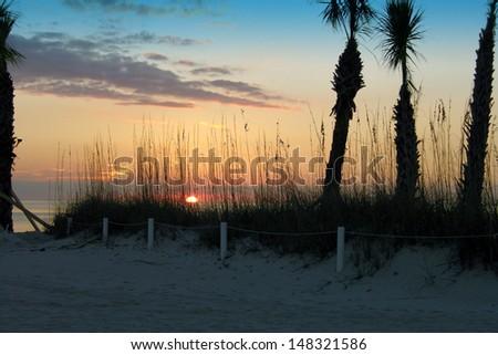 Sunset in Florida - stock photo