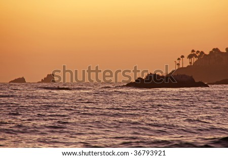 Sunset in Laguna Beach California