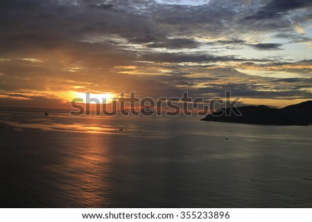 Sunset in NhaTrang