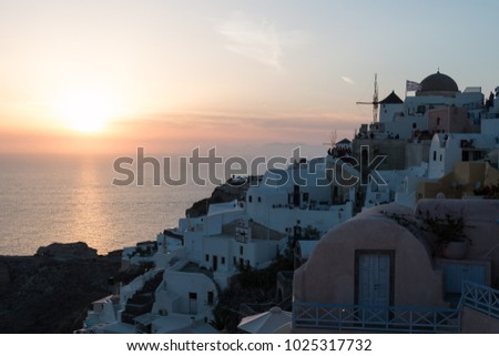 sunset in Oia - Santorini island
