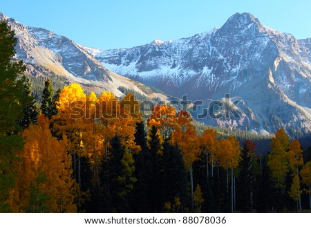 Sunset in Paradise Valley - stock photo