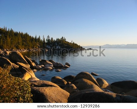 Sunset in South Lake Tahoe, Nevada - stock photo