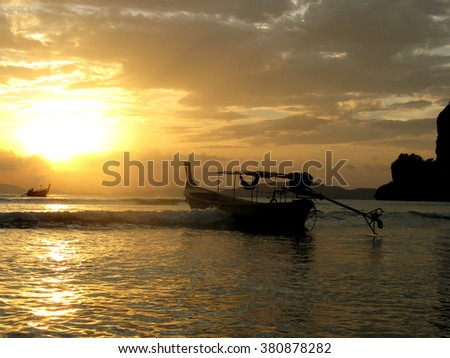 Sunset in Thailand. - stock photo