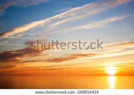 Sunset in the Nature - stock photo