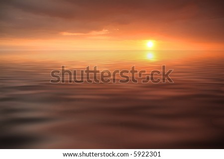 sunset in the ocean