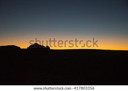 Sunset in the Utah Desert - stock photo