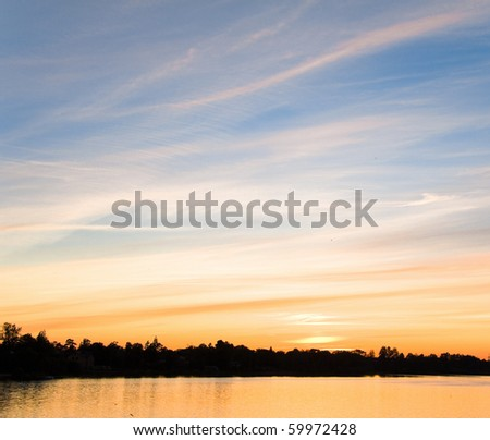 Sunset last rays - stock photo