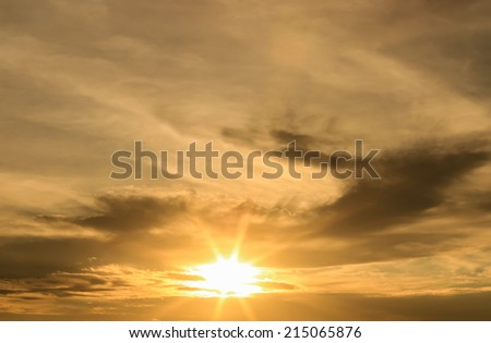 Sunset light with sky background.