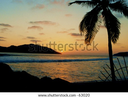 Sunset - Mazatlan Mexico - stock photo
