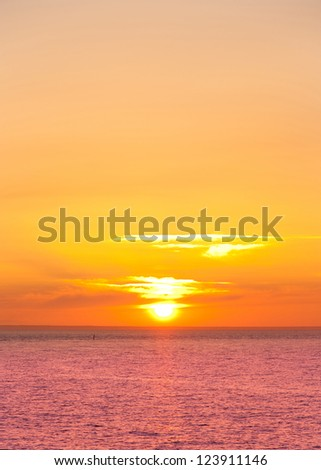 Sunset Ocean Landscape