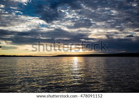 Sunset on a lake