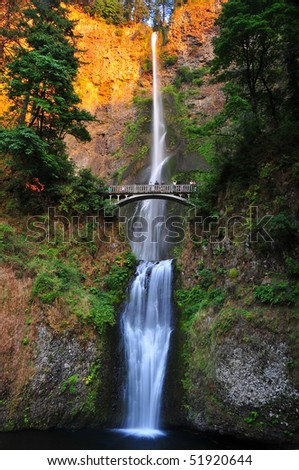 Sunset on Multnomah Falls