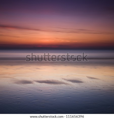 Sunset on the Beach, Koh-Chang, Thailand - stock photo