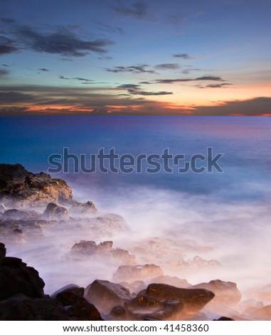 Sunset on the Big Island. Hawaii. USA - stock photo