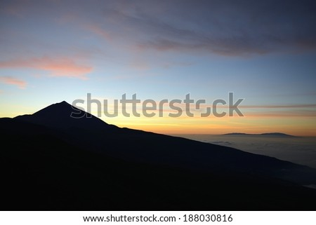 sunset on the mountain