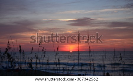 Sunset on the North Carolina coast.