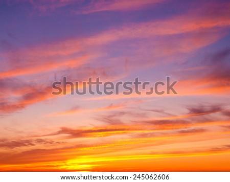 Sunset Paradise Evening Scene  - stock photo