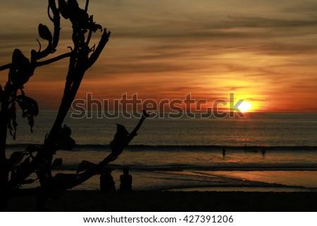 Sunset phuket thailand - stock photo
