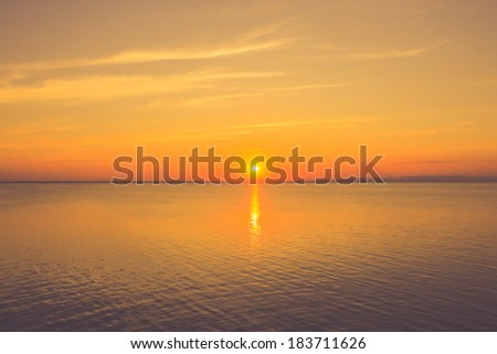 sunset sea - stock photo