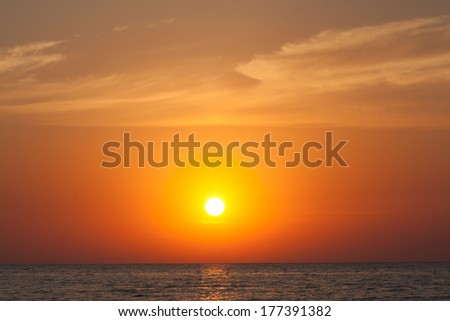 Sunset. Seascape. - stock photo