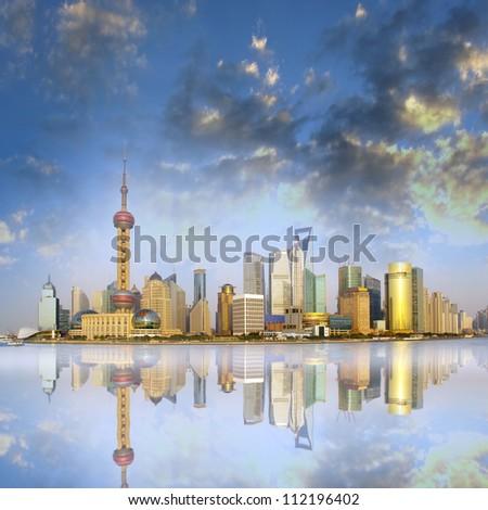 Sunset Shanghai - stock photo