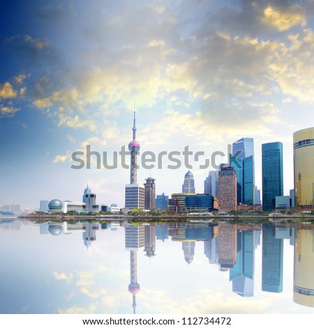 Sunset Shanghai - stock photo