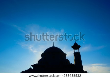 Sunset Silhouette of a mosque