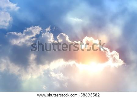 Sunset  sky  clouds - stock photo