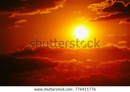 Sunset sky orange sky orange outdoor summer nature